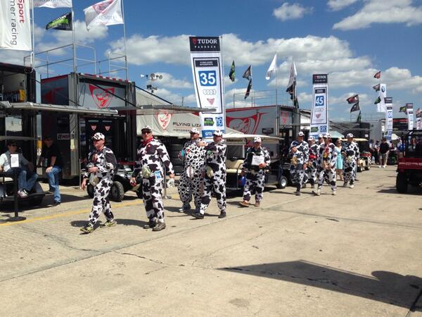 Today at #Sebring12, herds of drivers will cattle it out, milking their engines to udder exhaustion. #ItsEarly http://t.co/MvKSTYjUcM