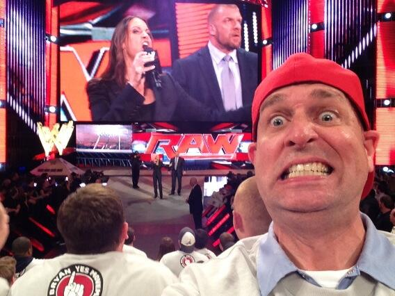 Never before seen selfie with @TripleH and @StephMcMahon !!! http://t.co/l3weitgj7q