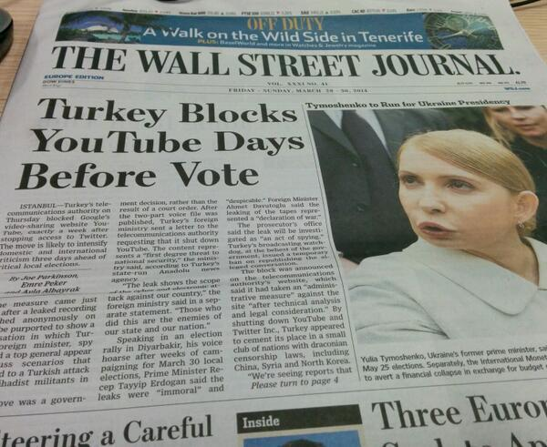 I now have 0 interest returng to #Istanbul…RT @WashingtonPoint Great day! Both @FT  @WSJ carry #Turkey on front page…http://t.co/TsYcPMx14G