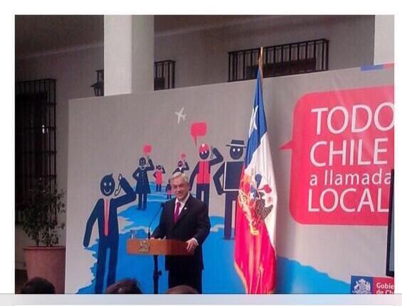 """Este Sábado termina la larga distancia en todo Chile..plan que iniciamos el 2011.. """"Todo Chile a Llamada Local"""" http://t.co/LPcPEuAbLg"""