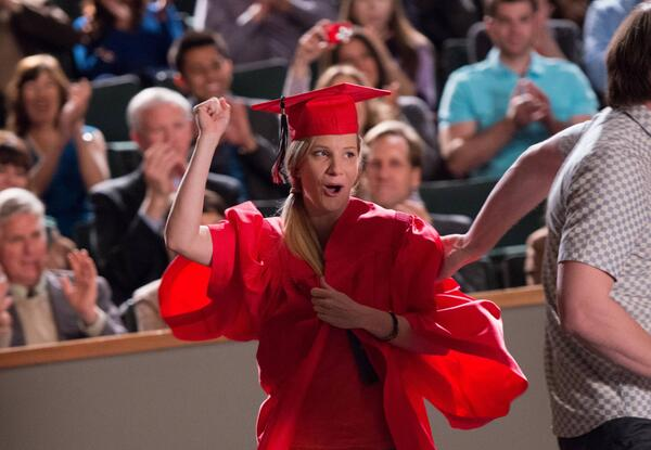 Brittany finally graduated!!! Retweet to congratulate her.  #glee http://t.co/zU0MSHV2QG