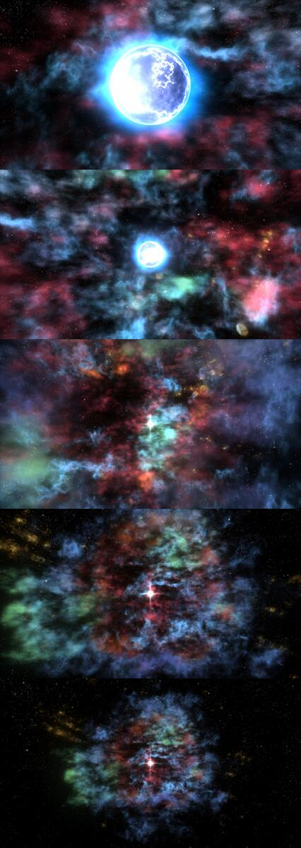 Check out this animated, 3D representation of the astounding supernova remnant, Cassiopeia A: http://t.co/8AOqhnaJmD http://t.co/Qdl7PbPha1