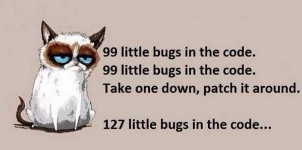 99 little bugs in the code. #happyFriday http://t.co/im0fRfmc6K