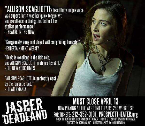 Check out what people are saying about @allisonscag #JasperinDeadland...  Then get yo tix. http://t.co/rcIx0s6V6a http://t.co/8oTNEq9MLx