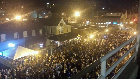 Turn up! RT @JordanWKYT: South Limestone celebration. #Kentucky #madness http://t.co/C2IUVz7wJ1