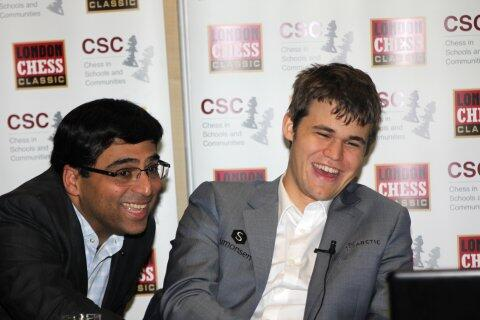 Congrats to @Vishy64theKing on winning #Candidates2014 with a round to spare! WCC match vs @MagnusCarlsen coming up! http://t.co/VKoRSDk8Vr