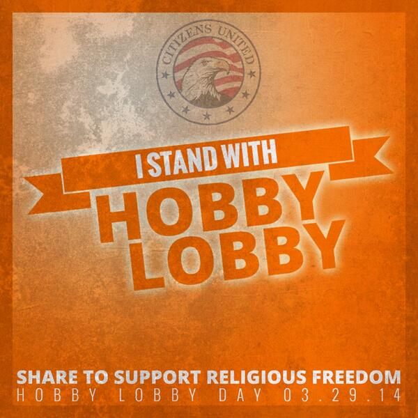 Join us in standing with Hobby Lobby! #HobbyLobbyDay http://t.co/X0Fi4wEPgd