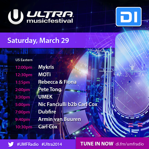 We're back at @ultra for Day 2, LIVE on @UMFRADIO. Tune-in from 4PM US Eastern: http://t.co/VYosvJy2uM #Ultra2014 http://t.co/SCDpopXjb0