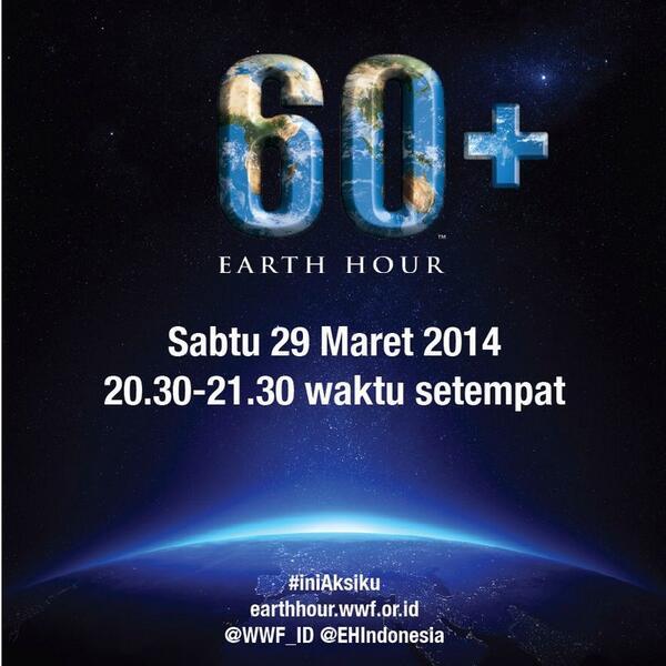 Buddies! Jangan lupa untuk #EarthHour ya!!!! Sejam untuk perubahan