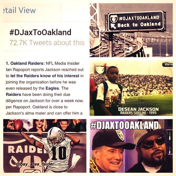 #RaiderNation busy wooing @DeseanJackson10 #DJaxToOakland http://t.co/6QtWyVkpDA