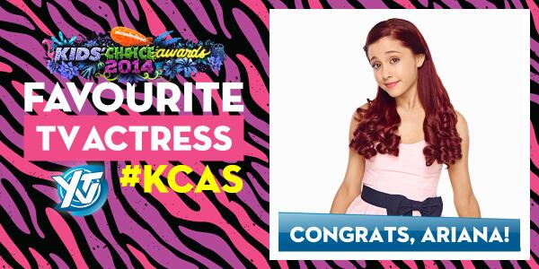Congrats, @ArianaGrande from all of us at YTV! #KCA http://t.co/0qPmaHZLgH