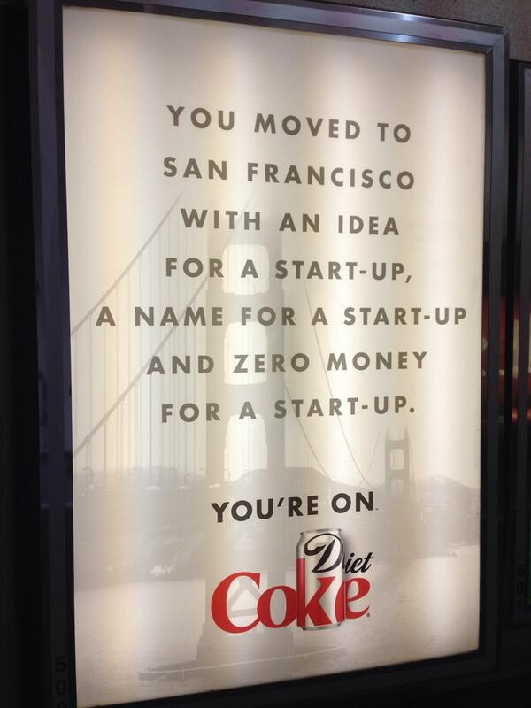 """Still unconvinced that """"You're On Coke"""" is the appropriate messaging here. http://t.co/kYagUeEscn"""