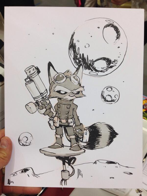 Rocket Raccoon commission for a fan at @emeraldcitycon. #eccc http://t.co/LmZJKQMRVD
