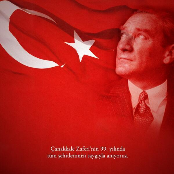Çanakkale Zaferi'nin 99. yılında tüm şehitlerimizi saygıyla anıyoruz. http://t.co/fwR6Z0ZkkN