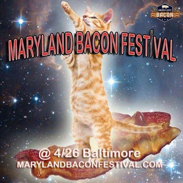 We have 3 (amazing) words to share: Maryland. Bacon. Festival.  4/26 @ Rash Field. Be there. http://t.co/4EWbRfOHPm http://t.co/sLWLom8wYl