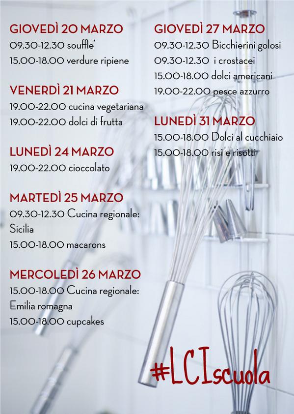 La nostra Scuola di cucina vi aspetta! INFO E PRENOTAZIONI: 02.70642242 oppure scuola@lacucinaitaliana.it  #LCIscuola http://t.co/7dPnxYHcun