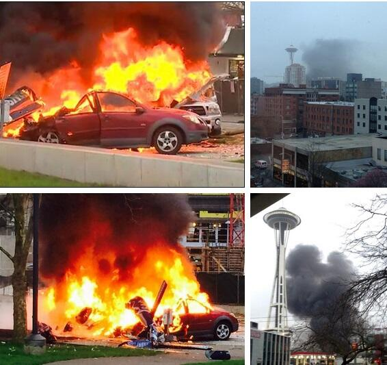 Report: 2 Dead After News Helicopter Crashes Near Space Needle.. So sad...prayers go out to families of victims http://t.co/tKUpPI5axf