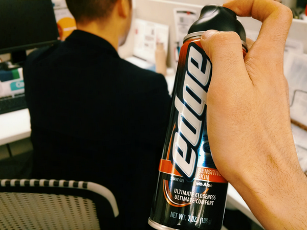 If this gets 500 RT's we'll empty half a can on our boss.  Or maybe one of our interns. It's up to you, tweet us. http://t.co/Kgb77q7Xnu