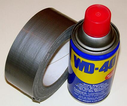 """One only needs two tools in life: WD-40 to make things go, and duct tape to make them stop."" - G.M. Weilacher http://t.co/XTkv2p9vtS"