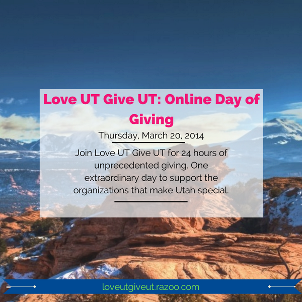 If you @LoveUTGiveUT this Thurs. March 20th. It' 24 hrs of giving. Find an organization you support & donate. Simple. http://t.co/tWNExZYBtV
