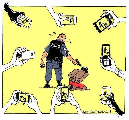 See it. Film it. Change it. Re: @rafucko Best weapon against police violence #HumanRights [img by @LatuffCartoons] http://t.co/BlxaxkNHo6