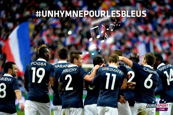 Hey @AntoGriezmann on cherche un #hymnepourlesbleus pour la Coupe du monde au Brésil, une chanson connue. Des idées? http://t.co/zRdu1QAKrc