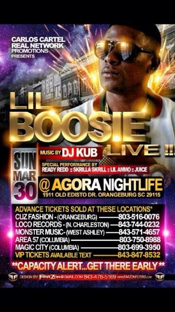 SUNDAY MAR 30TH LIL BOOSIE WILL BE LIVE AT CLUB AGORA.... http://t.co/boqfLaaa3W