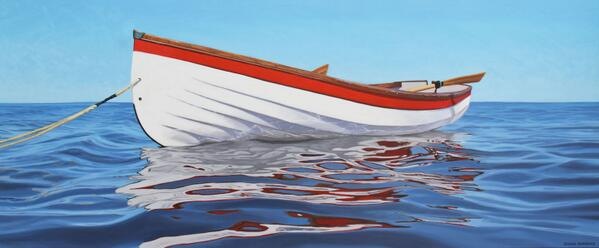 My newest lifeboat #painting 72x30in. oil on canvas #art #Vancouver http://t.co/Vsx168lg7U