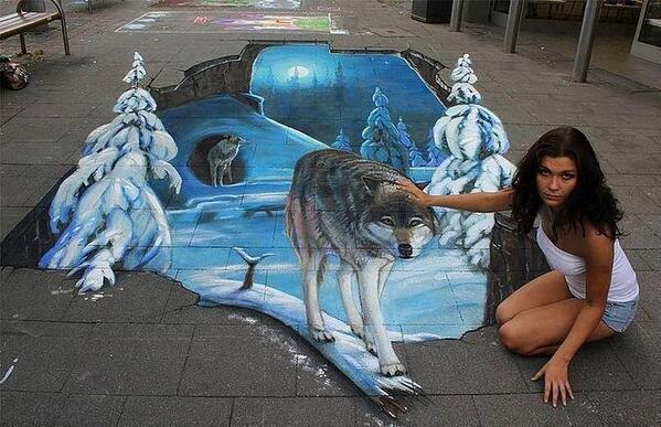 Amazing 3D art: http://t.co/MqOHys4wtC