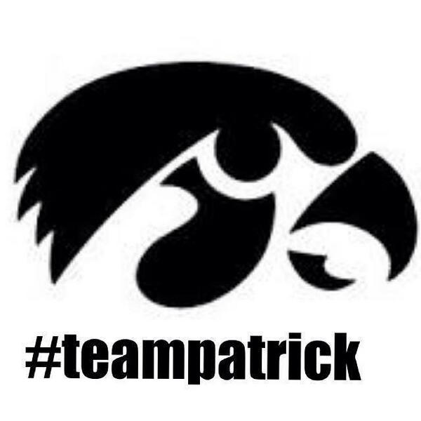 Safe to say we're all Hawkeyes today... #TeamPatrick http://t.co/8uErZenpGs
