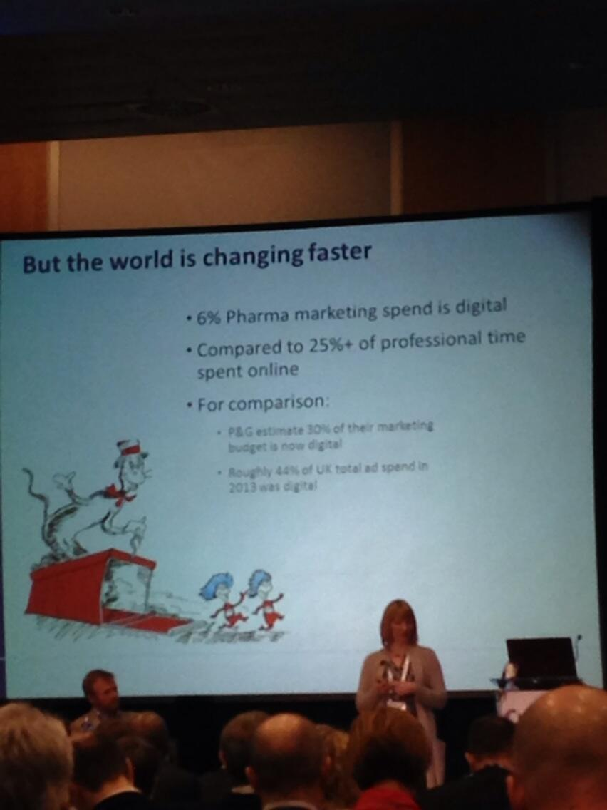 RT @AgnitioCLM: Only 6% of budget in #pharma spent on digital, compared to 25% of time spent on it #e4pbarca http://t.co/RAb2J8VqER