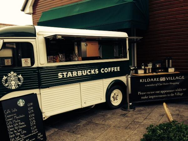 Have a look at our @StarbucksIE Van @KildareVillage today! http://t.co/rOONwa0Pzj