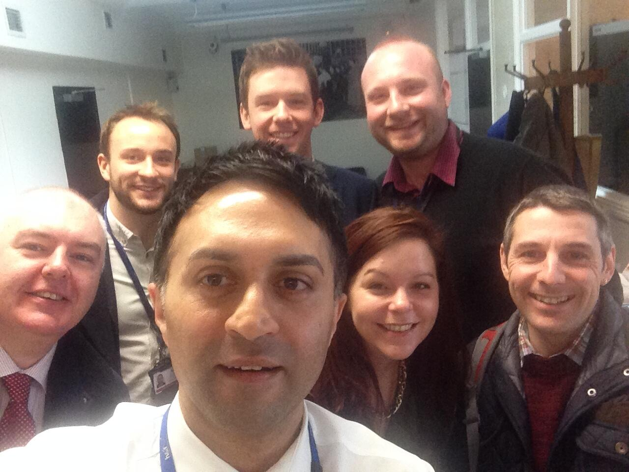 a selfie of the H&F & RBKC Prevent team for our #SupportCharityNotCrime day  to promote safer charity giving http://t.co/MtePcHeVkp
