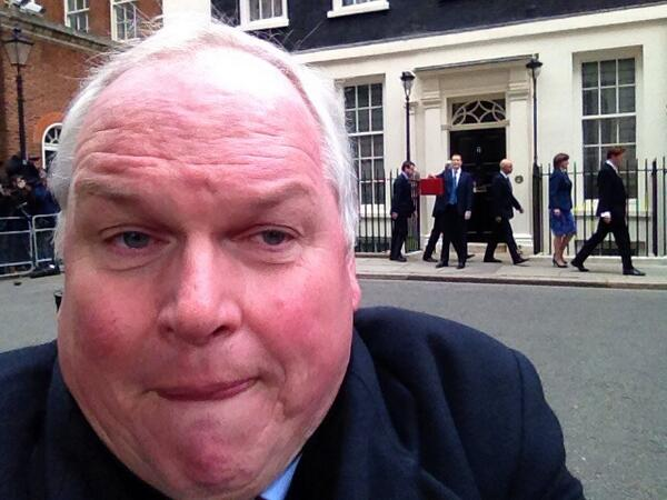 Not a very pretty #Budget2015 selfie. Osborne & Co behind me wouldn't pose http://t.co/mBtJuhCnuA