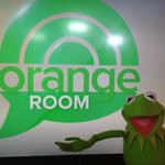 .@KermitTheFrog is in the #OrangeRoom! http://t.co/o1pS8b15UH