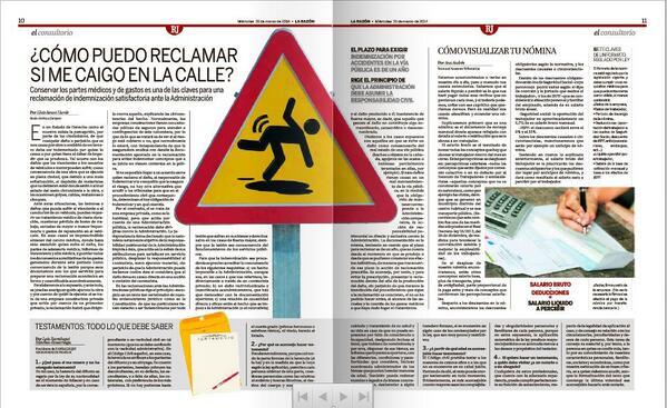 """""""¿Cómo reclamar si me caigo en la calle?"""" Léelo en """"LA RAZÓN DE LA JUSTICIA"""" en tu periódico, Orbyt y Kiosko y Más. http://t.co/EhwxEArfH8"""