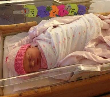 At 1:11 AM, we were blessed to welcome into this world another beautiful gift from God, Baylee Marie Roethlisberger! http://t.co/phcn0Aoqht