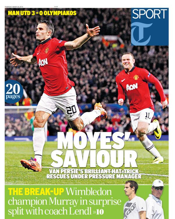 BjH34mSCcAA2t8N Saviour Robin van Persie keeps David Moyes his Man United job, for now [Thursdays Paper Pictures]