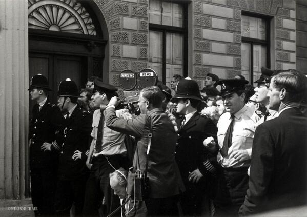 Budget day 1960's Photo By my Dad Mikis Michael  - awesome #classic #Photo #b/w #BBC #Budget #reporters http://t.co/GW5Yzgxugo
