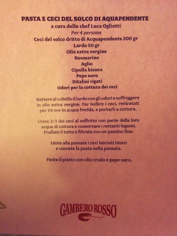 Pasta e ceci, ecco la ricetta #oliditalia2014 http://t.co/V9mrxb5GNi
