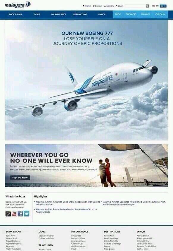 Malaysia Airlines debería revisar su publicidad: http://t.co/Dp7bhGh9gb