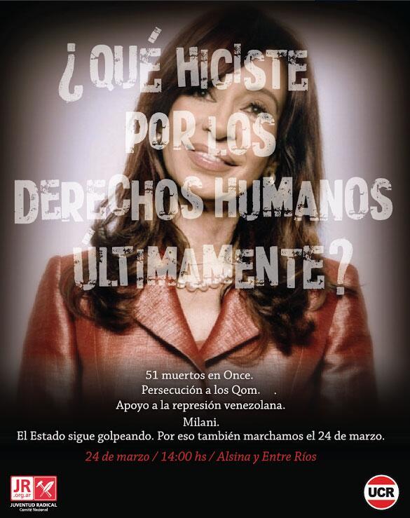 El durísimo afiche de la UCR contra Cristina por el 24 de marzo http://t.co/FcNHp0KFyd http://t.co/mhHEAp6ULo