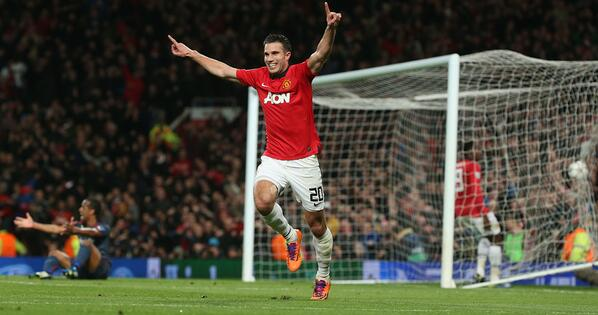 A @Persie_Official hat-trick gave @ManUtd a 3-0 #UCL win over Olympiacos on Wednesday - a 3-2 win on aggregate http://t.co/UapkPEthLr