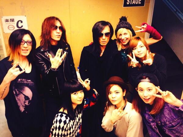 昨日のTHE SOLAR BUDOKAN 2014 Vol.2にSUGIZOさん、HISASHIさん、MORRIEさん、ヘザーが遊びに来てくれました꒰ ♡´∀`♡ ꒱ http://t.co/Oas8lE3Tbs