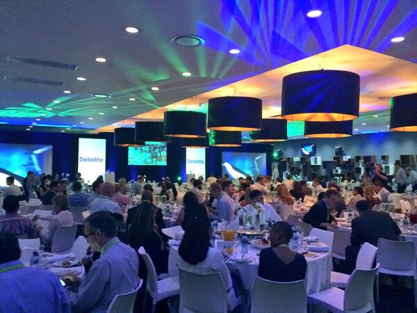 .@DeloitteSA #techtrends2014 3rd year in a row and now a part of the team. A room full of decision makers. Fantastic. http://t.co/olOKFHnq8O