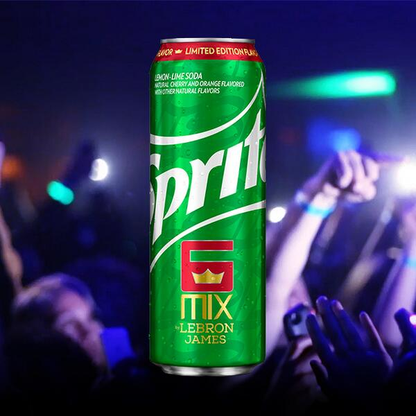 The wait is over! Sprite #6Mix by @KingJames is in stores now. Enjoy the taste of greatness. #ChangeTheGame   http://t.co/zFC7y5hJY5