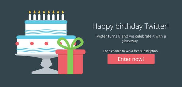 Twitter turns 8 and we celebrate with a Premium Stats giveaway! Enter now for a chance to win… http://t.co/0OgzctLedL http://t.co/9Jhk38UcXi