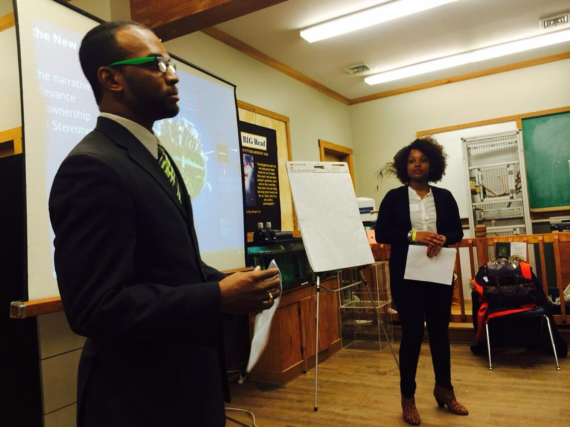 Rocking this green as relevancy presentation with my brother @ontejohnson #greenishansta #planetcare http://t.co/7RhB483Vjp