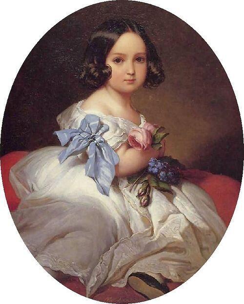 「ベルギーの王女シャルロット」1842年フランツ・クサーヴァー・ヴィンターハルターFranz Xaver Winterh