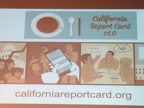 @UCBerkeley discussing findings from the 1st #CAReportCard. Learning how you are grading CA on important issues http://t.co/fpRKBR6qeB